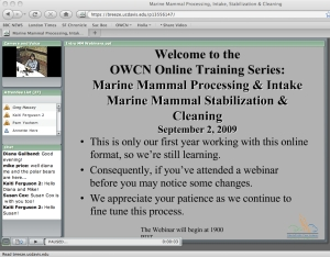 Online Training Series (OTS) Screen Shot