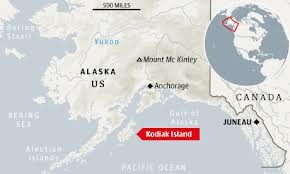 Site of Kulluk grounding near Kodiak Island, Alaska: www.guardian.co.uk