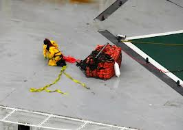 Salvage team on the Kulluk 1/2/2013: Photo credit: USCG handout