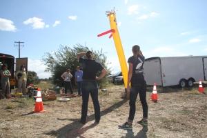 Workshop Folks Learning About Visual Hazing Methods on Sunday