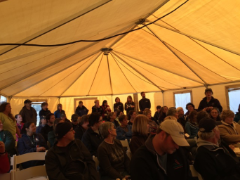 OWCN and Member Organization personnel receiving the morning briefing for the oiled wildlife response drill in Morro Bay last week.