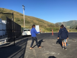 Checking out the paved area at The Marine Mammal Center for staging Wildlife Recovery or Field Stabilization vehicles and tents in the event of an oil spill response
