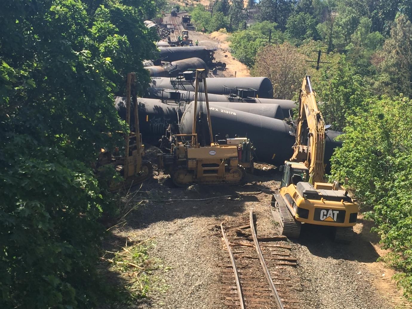 Train derailment Moser Oregon- WA Department of Ecology