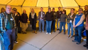 OWS training Cordelia Apr 2018 Jean Yim photographer entire group in wash tent
