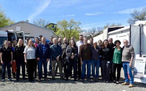 GOWRS partners and OWCN staff at the boneyard facility.